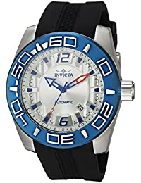 Men's 'Aviator' Automatic Stainless Steel and Silicone Casual Watch, Color:Black (Model: 23530)