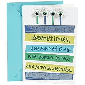 Amazon hallmark birthday greeting card for him extra hallmark birthday greeting card for him extra attention bookmarktalkfo Gallery