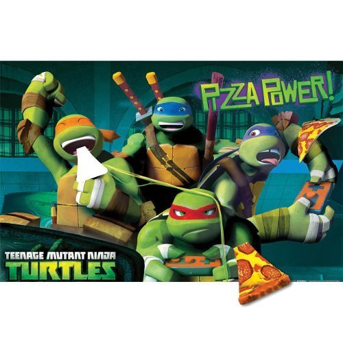 Teenage Mutant Ninja Turtles Pin the Pizza Party Game - Birthday and Theme Party -