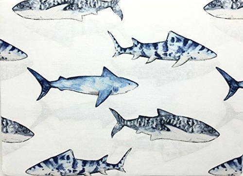 Boat House Shark School All Cotton Full Size Sheet Set