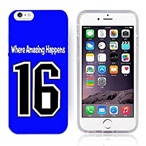 GXFC Case Unique Design Basketball Sportsman Uniform Where Amazing Happens 16 Pattern HD Durable Hard Plastic Case Cover for iphone 6(4.7 Inch)