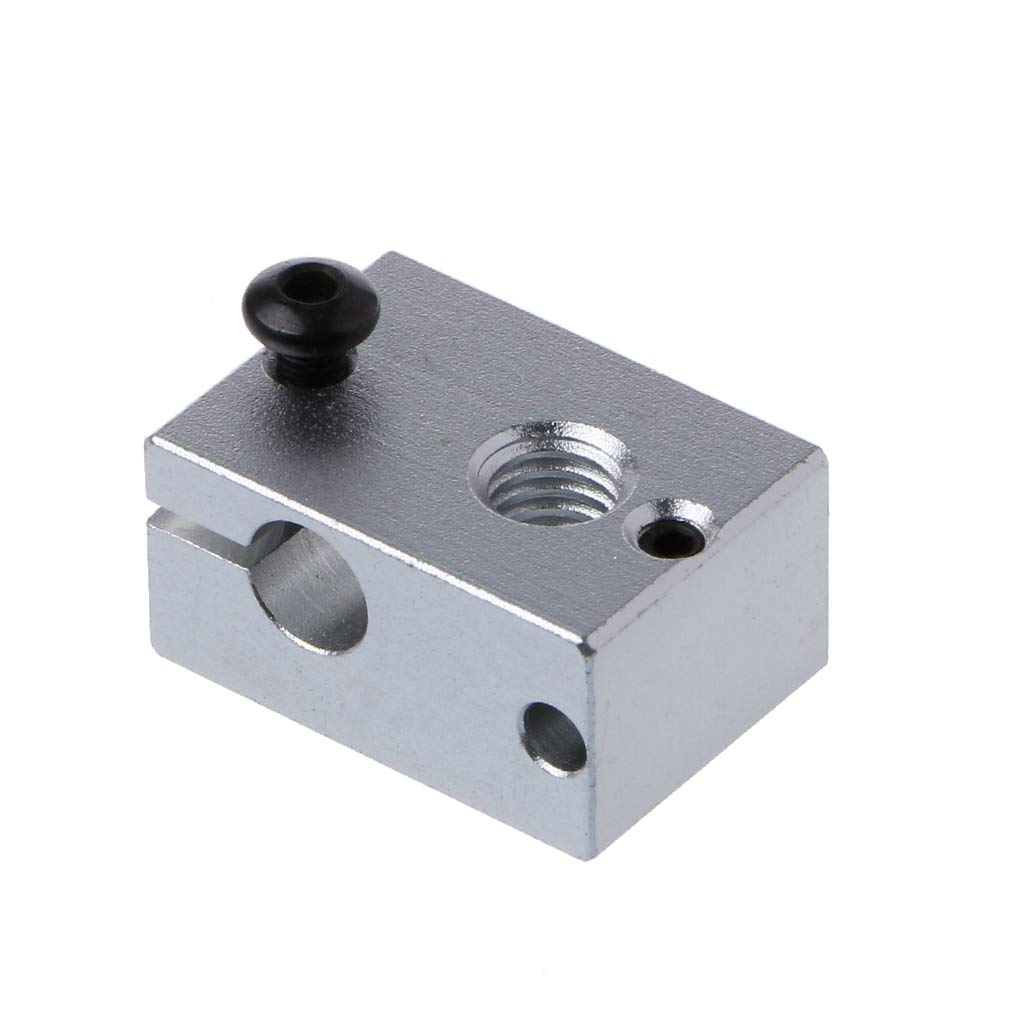 JENOR Heater Block for V6 New 3D Extruder Hot End for PT100 Sensor Cartridge