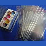 Weststone 50pcs 4'' clear Lollipop Sticks + 50 Poly Bags + 50 clear Twist Ties for Cake Pops
