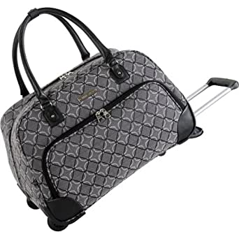 Ninewest Luggage 9 Element 20 Inch Wheeled Bowler Bag, Black/Grey, One Size