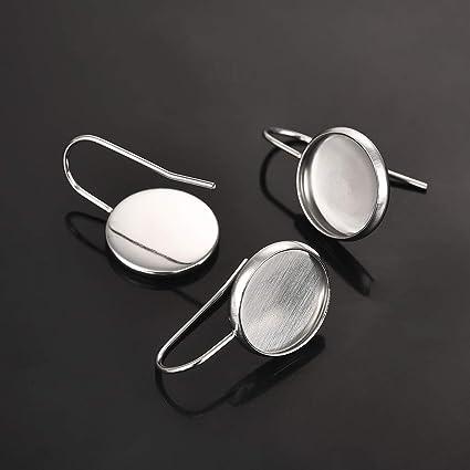 50 Pendientes Anzuelo 18mm Níquel /& Sin Plomo Cables de oreja plata plateado