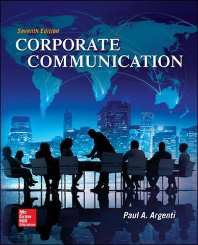 007340327X - Corporate Communication