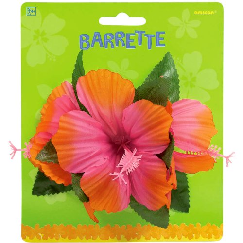 amscan Hibiscus Party Barrette, 4