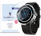 uv flashlight filter - iLLumiShield – Motorola Moto 360 Android Smartwatch (HD) Blue Light UV Filter Screen Protector Premium High Definition Clear Film / Reduces Eye Fatigue and Eye Strain – Anti- Fingerprint / Anti-Bubble / Anti-Bacterial Shield - Comes With Free LifeTime Replacement Warranty – [2-Pack] Retail Packaging