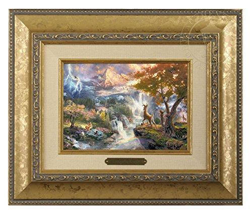 Thomas Kinkade Candles - Thomas Kinkade Disney Bambi's First Year Brushwork (Gold)