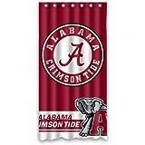 Elegant Cool Life Style NCAA Alabama Crimson Tide Polyester Bathroom Waterproof Shower  Curtain