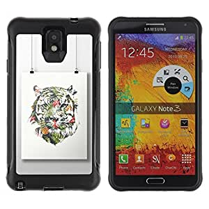 "Hypernova Defender Series TPU protection Cas Case Coque pour SAMSUNG Galaxy Note 3 III / N9000 / N9005 [Pintura colorida Art Dibujo""]"
