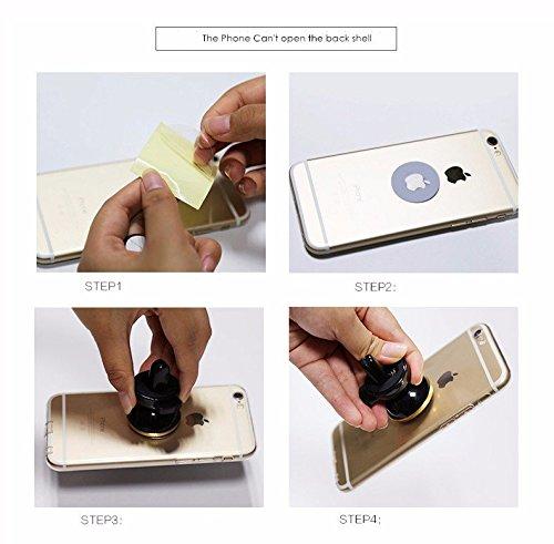 keke Xili universale 360//° supporto magnetico per auto mobile Holder cellulare supporto per iPhone 6s 6/Plus Samsung S6/nota 5/GPS ecc oro oro