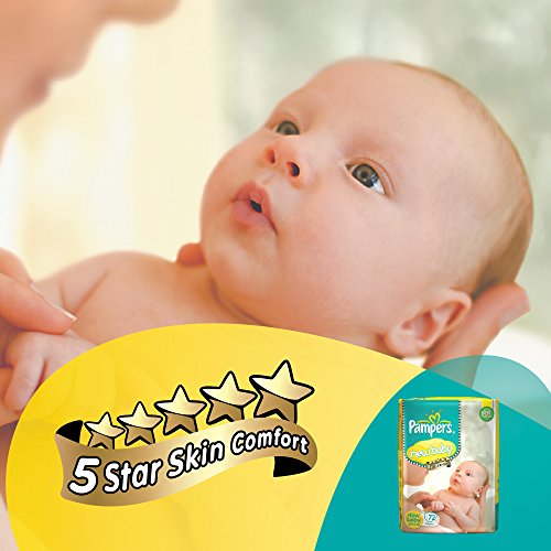 Pampers Active Baby Tape Diapers New Born Baby XS Size 72 Pieces at best price