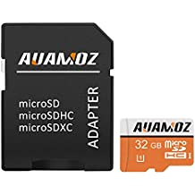 Micro SD Card 32GB,AUAMOZ Micro SDHC Class 10 UHS-I High Speed Memory Card for Phone,Tablet and PCs - with Adapter