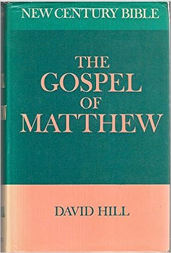 Gospel of St.Matthew (New Century Bible)