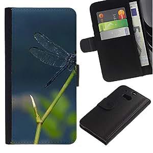 Be Good Phone Accessory // Caso del tirón Billetera de Cuero Titular de la tarjeta Carcasa Funda de Protección para HTC One M8 // Plant Nature Forrest Flower 112