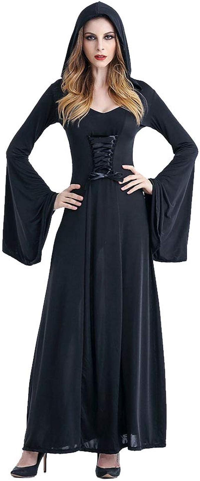 HOOLAZA Schwarze Frauen Rollenspiele Vampire Hexe Dämon Kostüm