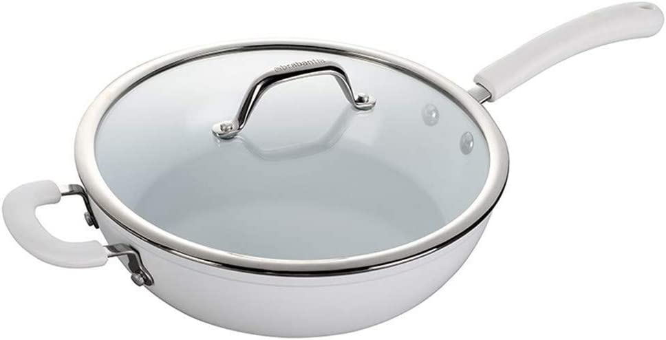 ZLDGYG Wok - Auto Stir-Fry Wok,Stir-Fry Wok, Sauté Wok, Slow Cooker, Stew Pot, Automatic Stir-Fry, Saucepan, Cook Soup, No Fumes, Stainless Steel Pot