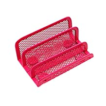 Mesh Collection Business Card Holder Red