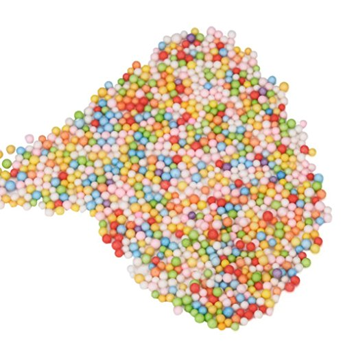 E-SCENERY 6000pcs/bag Mini Styrofoam Balls for Slime, Small Tiny Foam Beads for Making Foam School Arts Crafts Supplies, Home Decor (Colorful)
