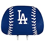 ProMark Los Angeles Dodgers PRINTED Full Color 2-pack Head Rest Covers Elastic Auto Baseball