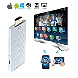 AMOITEC Full Hd 1080p Wireless Hdmi Adapter / Miracast Dongle/ Ezmirror / Dlna / Airplay / Real Time Display Function, Free Wifi Receiver, Compatible with Android OS / IOS/ MAC OS Devices(WHITE)