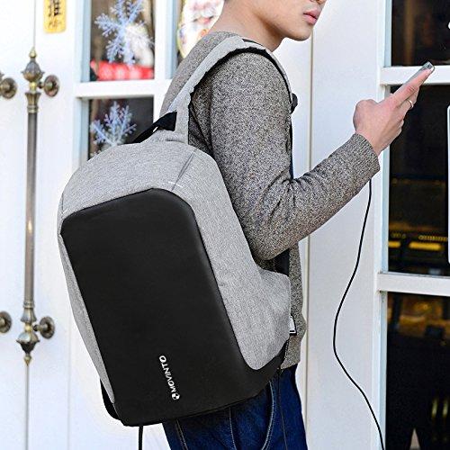 MOVINTO Anti-Diebstahl Laptop Rucksack Frontansicht