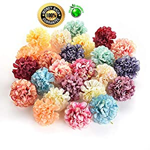 Silk flowers in bulk wholesale Fake Flowers Heads DIY Artificial Silk Flowers Head for Home Wedding Party Decoration Wreath Gift Box Scrapbooking Fake Flowers 30PCS 4cm (Colorful) 34
