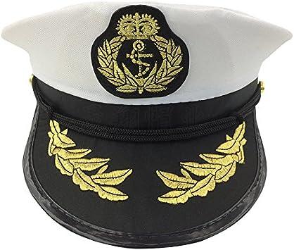 Gorra capitán hombres mujeres negro blanco - Disfraz para Adultos ...