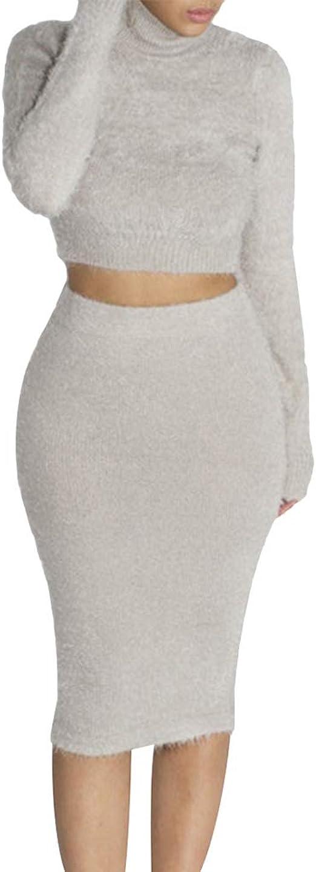 Falda para Mujer Conjunto De Dos Piezas Set Corto Blusa Y Bodycon ...