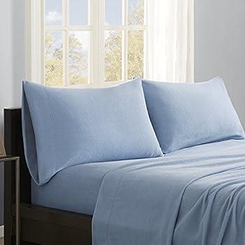 True North by Sleep Philosophy Micro Fleece Sheet Set, California King, Blue