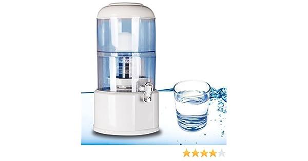 Depósito dispensador purificador de agua 20 litros CARBONO ACTIVO: flashselection: Amazon.es: Hogar