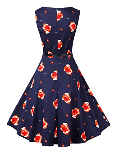 Ladies Short Spring Dress, Picnic Party Cocktail Dresses for Junior 40