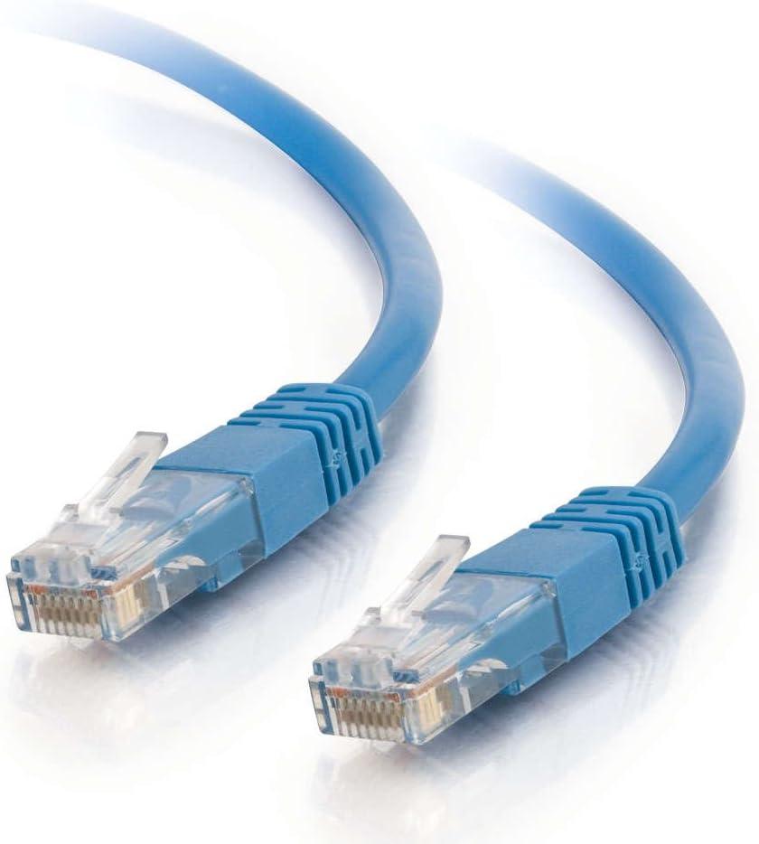 Blue 15250 C2G 100 ft Cat 5e 350 MHz Assembled Plenum Patch Cable