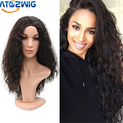 [ATOZWIG Top Quality Fiber Curly Wigs half wig 3 Color Heat Resistant Synthetic Hair Wigs African American Wig For Black] (Cheap Color Wigs)