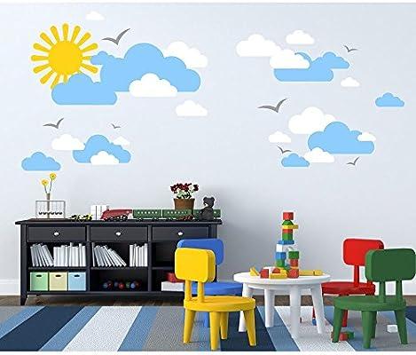 Tilkidunyasi Gunes Ve Bulutlar Bebek Ve Cocuk Odasi Duvar Sticker