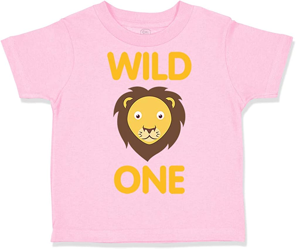 Custom Toddler T-Shirt Wild 1 Year Old First Birthday Funny Humor Style F Cotton