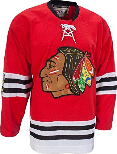 ... canada mens chicago blackhawks ccm red classic throwback jersey 7ef49  6205b 0e6af1463