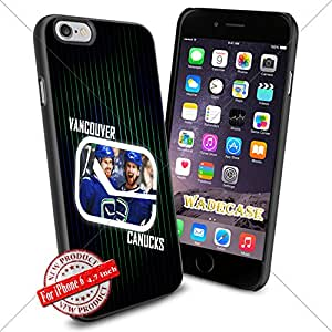Vancouver Canucks Logo WADE7449 NHL iPhone 6 4.7 inch Case Protection Black Rubber Cover Protector