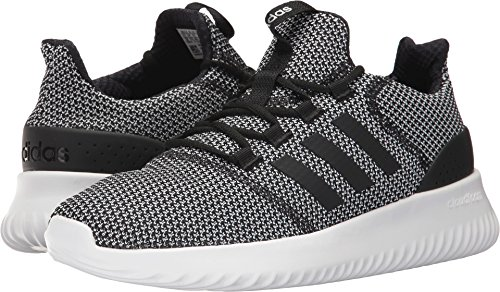 adidas Men's Cloudfoam Ultimate Running Shoe, Black/Black/White, 11 Medium US by adidas