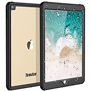 Temdan iPad Pro 10.5 Waterproof Case Rugged Full Body Protect Sleek Transparent Cover with Built in Screen Protector Shockproof Waterproof Case for Apple iPad Pro 10.5 inch