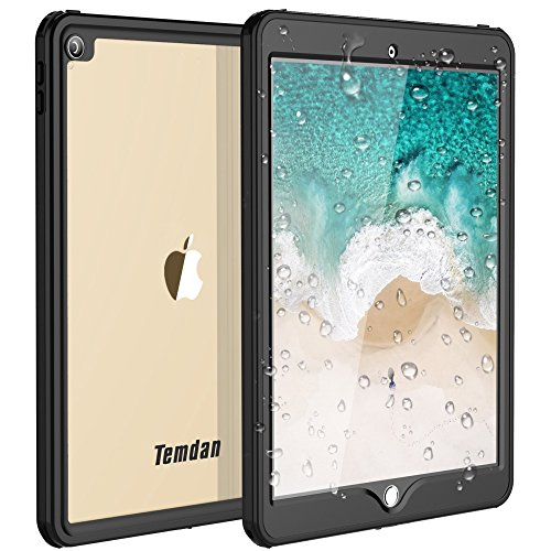 (Temdan iPad Pro 10.5 Waterproof Case Rugged Full Body Protect Sleek Transparent Cover with Built in Screen Protector Shockproof Waterproof Case for Apple iPad Pro 10.5 inch)