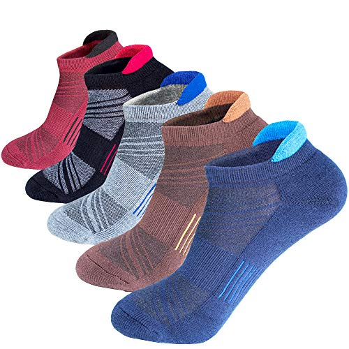 - Mens Low Cut Ankle Athletic Socks Cotton Mesh Cushioned Running Ventilation Sports Tab Sock(5 pack)