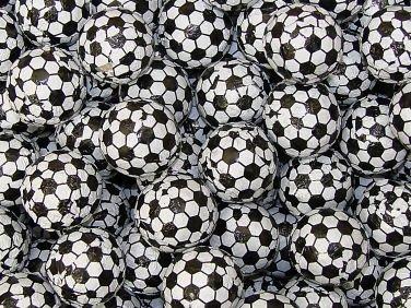 Chocolate Foil Balls - Soccer, 5 lb bag (Foil Chocolate Footballs)