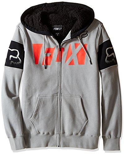Fox Men's Libra Sherpa Zip Fleece, Light Grey, Medium (Sherpa Screen Sweatshirt Print)