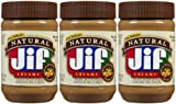 Jif Natural Creamy Peanut Butter, 16 oz, 3 ct by Jif
