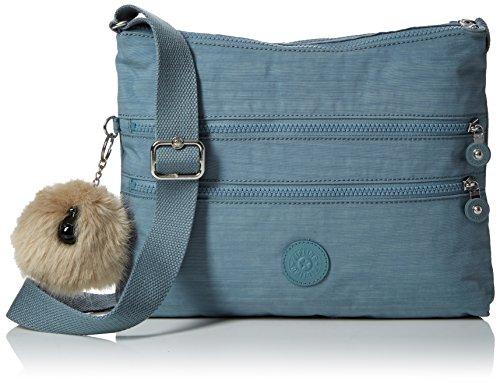 (Kipling Alvar, Women's Cross-Body Bag, Blue (Dazz Soft Aloe), 15x24x45 cm (W x H x)