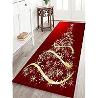 Red Background Gold Tree Print Foam Comfort mat Non Slip...