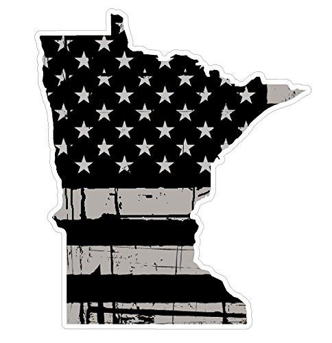 Mini Window Sticker - Minnesota State (N24) Distressed Flag Vinyl Decal Sticker Car/Truck Laptop/Netbook Window