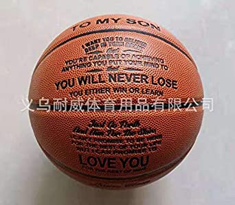 Personalized Basketball Indoor//Outdoor Game Ball for Son TopFan Engraved Basketball for Son